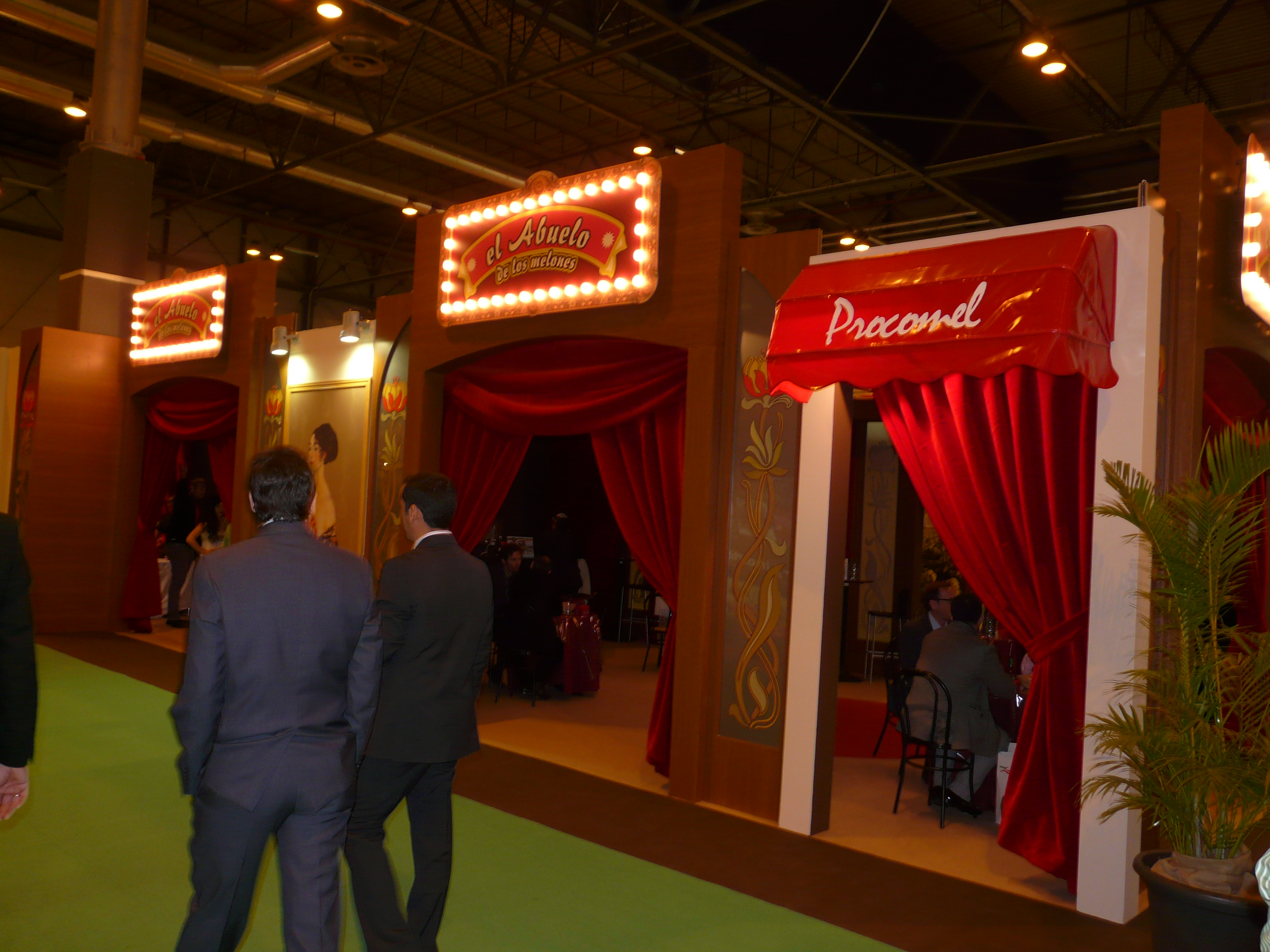 Procomel's stand - probably the most eye catching at this year's show. Seemed to be pitched somewhere between a bordello and cabaret bar from 1930's Berlin
