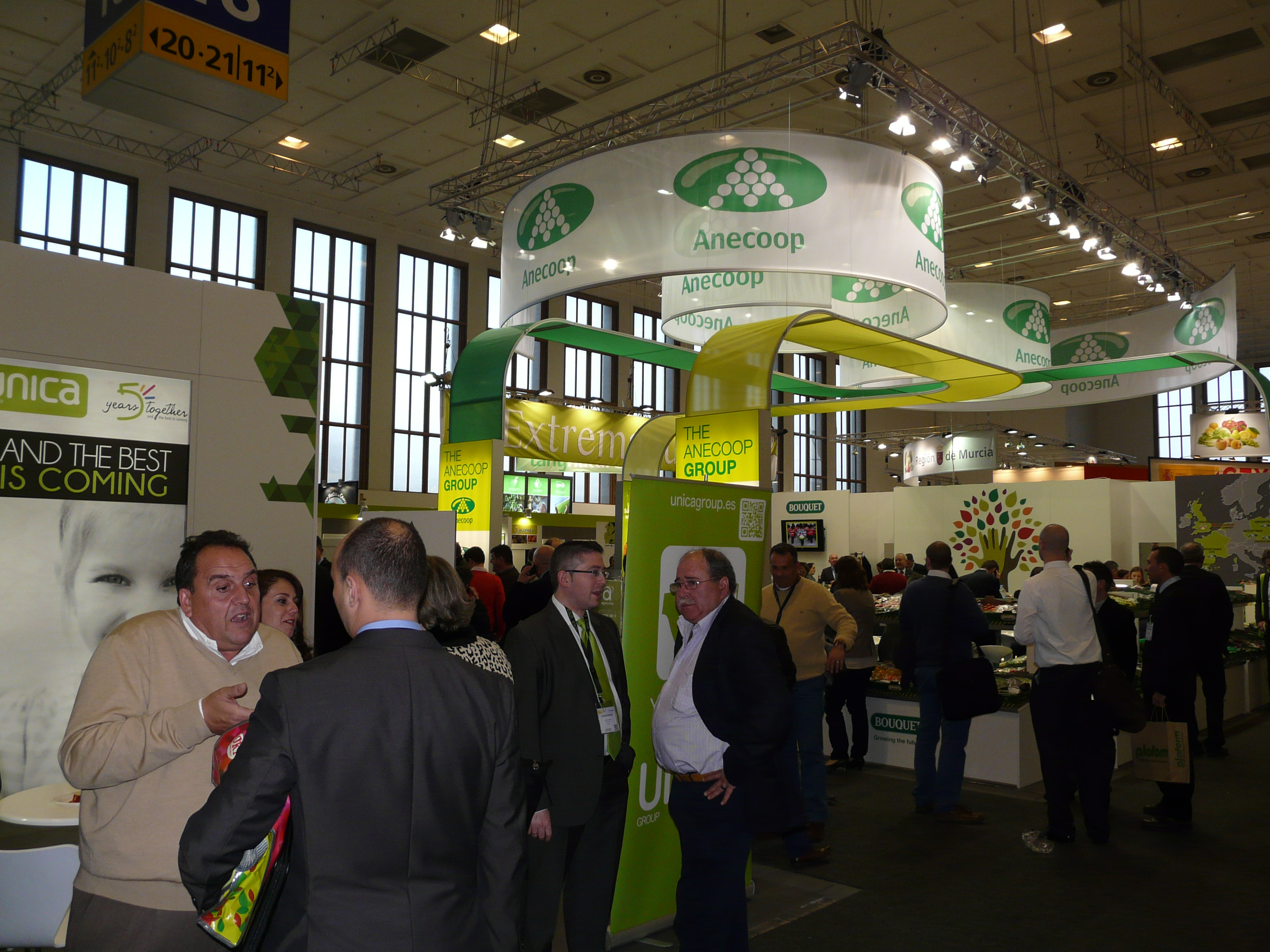 First day at Fruit Logistica.. anything but quiet (Anecoop stand in background)