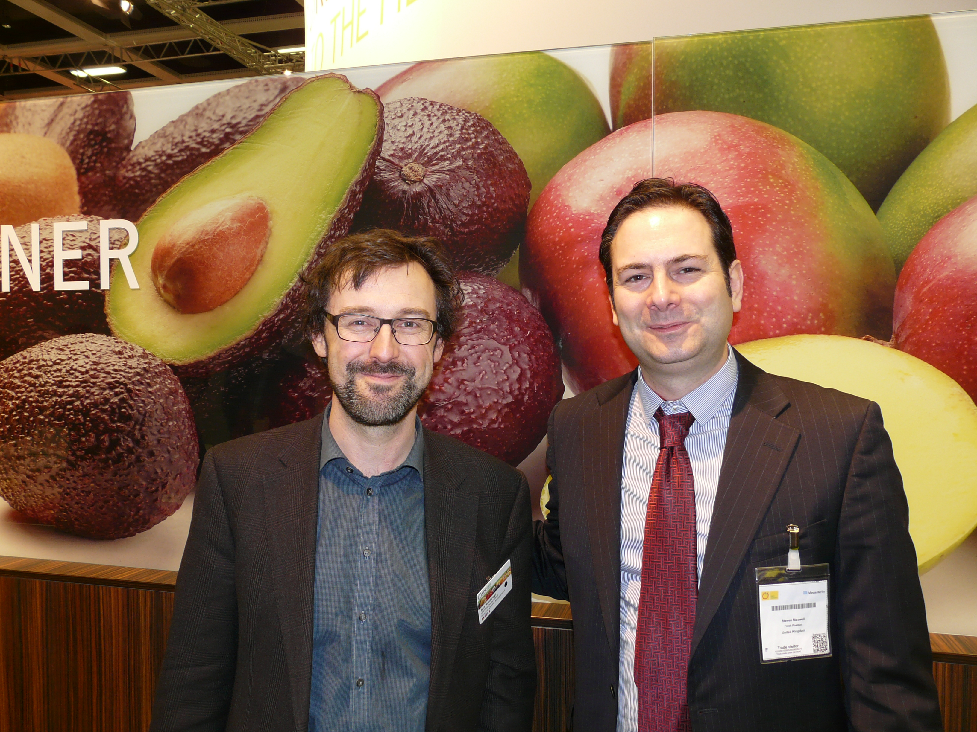 (l-r) Univeg's director of quality management, Ben Horsbrugh, with yours truly