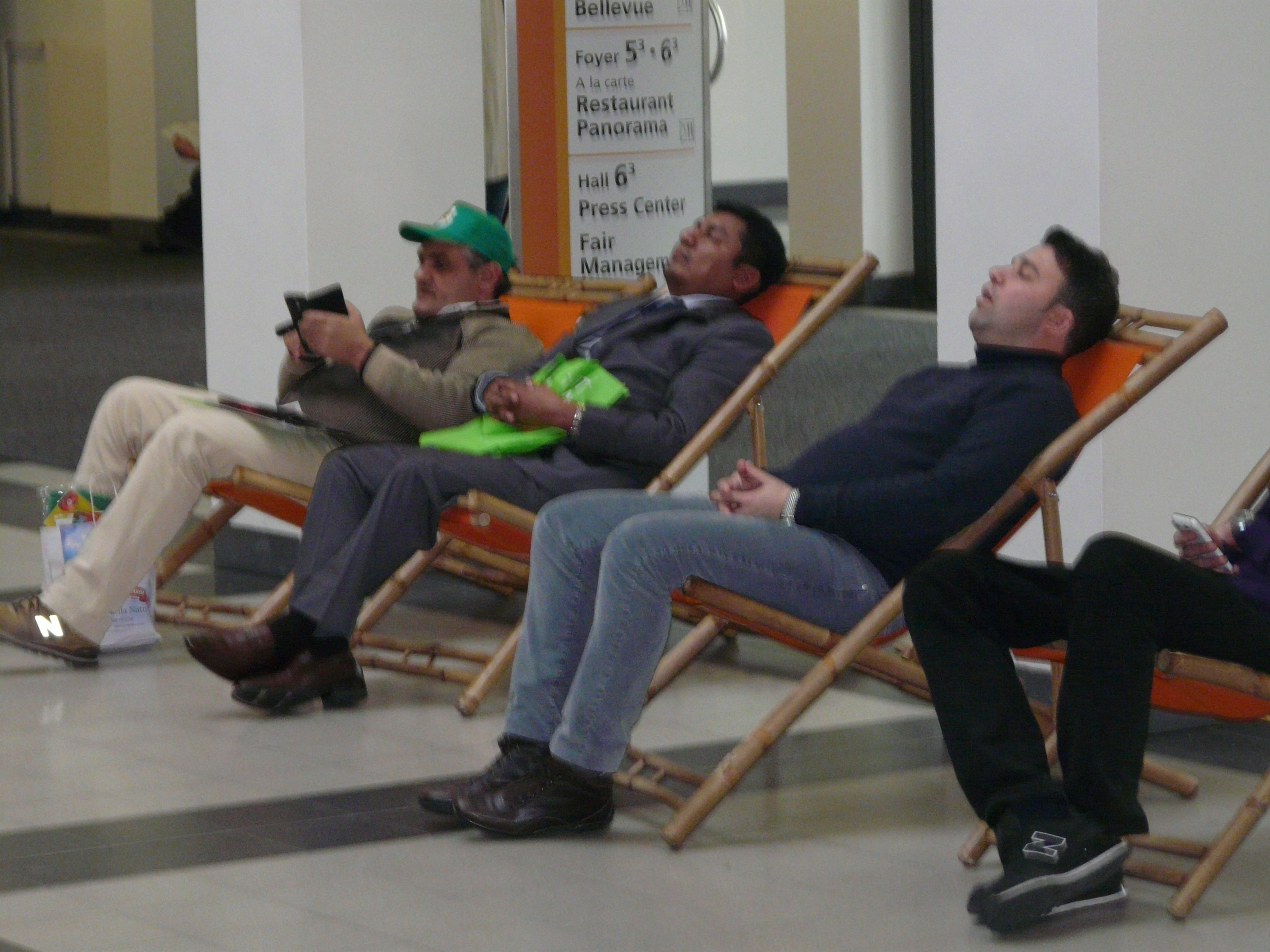For some visitors to Messe Berlin, getting around 25 halls had obviously been tiring